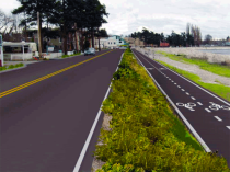 After - Birch Bay Drive Looking Towards Harborview (Conceptual Image)