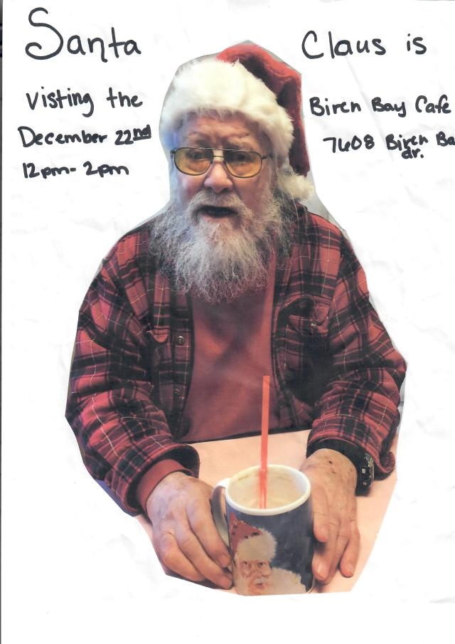 Birch Bay Cafe Santa