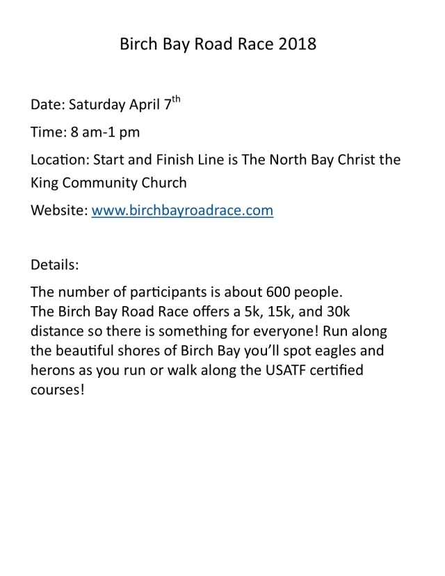 Birch bay Roadrace