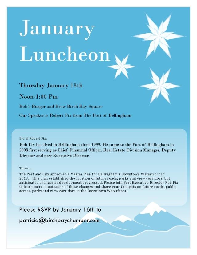 January Luncheon 2018