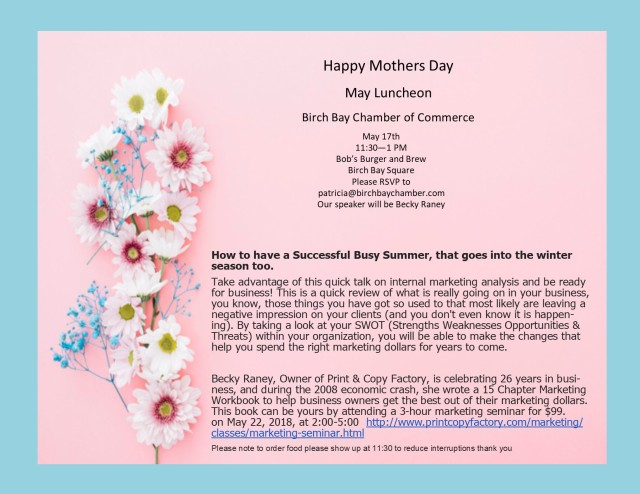 May Luncheon Flyer