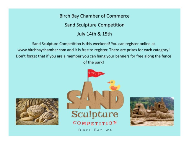 Send out for Sand Sculpture 2018